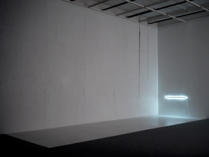 Devices, Composition, 2013. Installation view. Aluminium, LED lights. (Photo: Raef Sawford)
